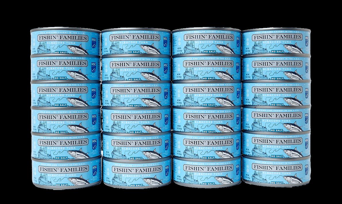 Albacore Tuna | Fishin Families Albacore Tuna Nosalt 24 5oz Cans Free Shipping